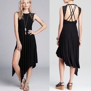 Free People Black Afternoon Delight Dress Lace XS